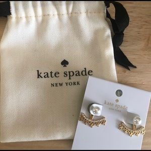Kate Spade Gold and Pearl Earrings